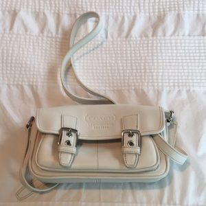 Ivory Coach mini crossbody handbag